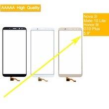 50Pcs/lot For Huawei Mate 10 Lite Honor 9i Nova 2i G10 Plus Maimang 6 Touch Screen Touch Panel Sensor Digitizer Front goowiiz черный maimang 6 mate 10 lite honor 9i nova 2i