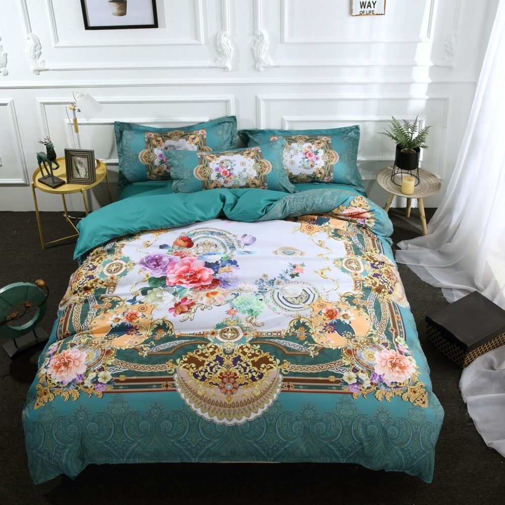 Drop Shipping 3D Digital Printing Duvet Cover Pillowcases Bohemia  Blue Flower Soft Bed Covers Dropshipping 3/4PCS Drop Shipping 3D Digital Printing Duvet Cover Pillowcases Bohemia  Blue Flower Soft Bed Covers Dropshipping 3/4PCS