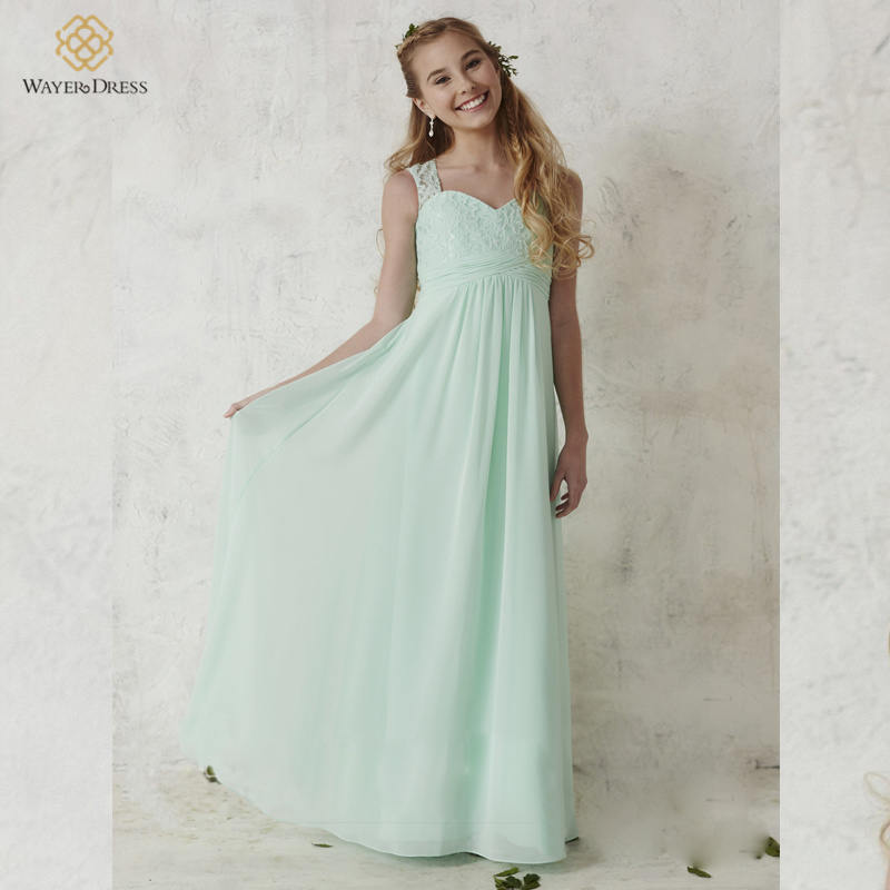 Aliexpress.com : Buy Mint Green Children Sweetheart Lace ...