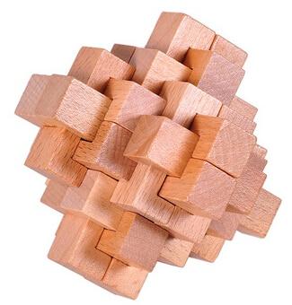 Yaxşı keyfiyyətli IQ Taxta bir-birinə qarışan Puzzle Mind Brain - Bulmacalar - Fotoqrafiya 4