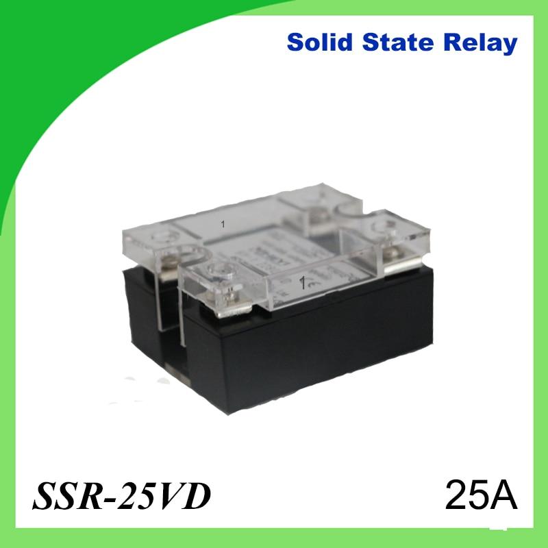 2PCS 25A SSR,input DC 0-10V single phase ssr solid state relay voltage regulator [vk] mcbc1250cl ssr 50a burst fire control 10v relays