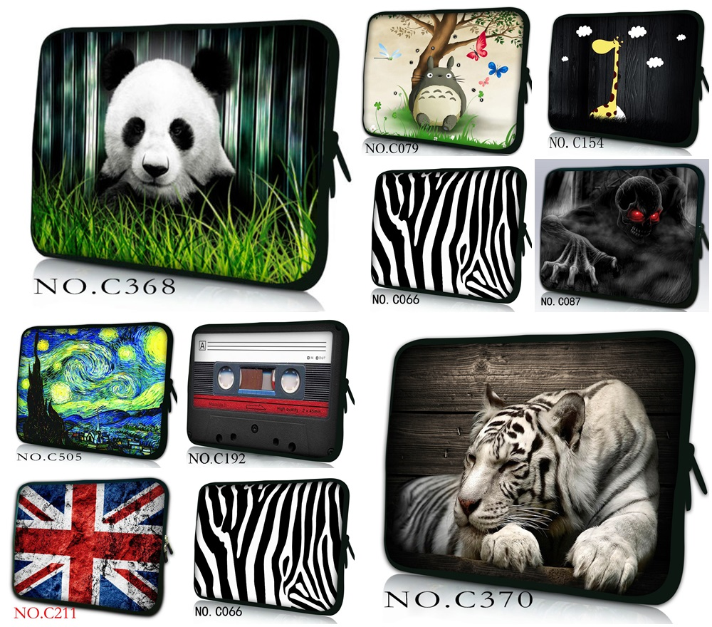 цена на 7 10 12 13 15 17 17.3 inch Laptop Sleeve Waterproof Sleeve Pouch Bag Tablet Case Cover For 7 15.6 13.3 Dell HP ASUS C#001