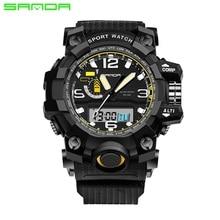 Men Sports Watches Brand SANDA 732 Men Waterproof Digital Military Watches S-Shock Men's Analog Quartz-Watches Relogio Masculino