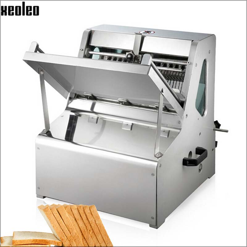 XOELEO Eectric Bread Slicer Commerica Bread Sandwich Slicer Bread Cutter Machine 8/12/15/20mm Thickness 31pieces/time