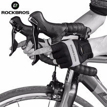 ROCKBROS Cycling Bicycle Gloves Half Finger Men Mountain Road Bike Shockproof Breathable Sports Equipment