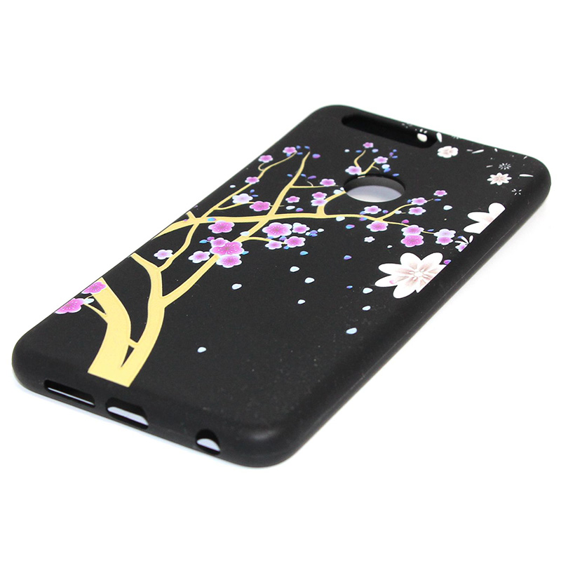 3D Relief flower silicone case huawei honor 8 (19)