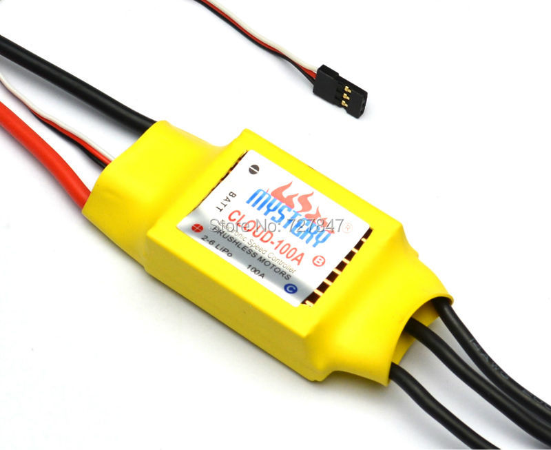 Mystery Cloud 100A brushless W/O BEC ESC RC Speed Controller For Brushless Motor RC helicopter RC Airplane 3650 3900kv 4p sensorless brushless motor 60a brushless elec speed controller esc w 5 8v 3a switch mode bec for 1 10 rc car