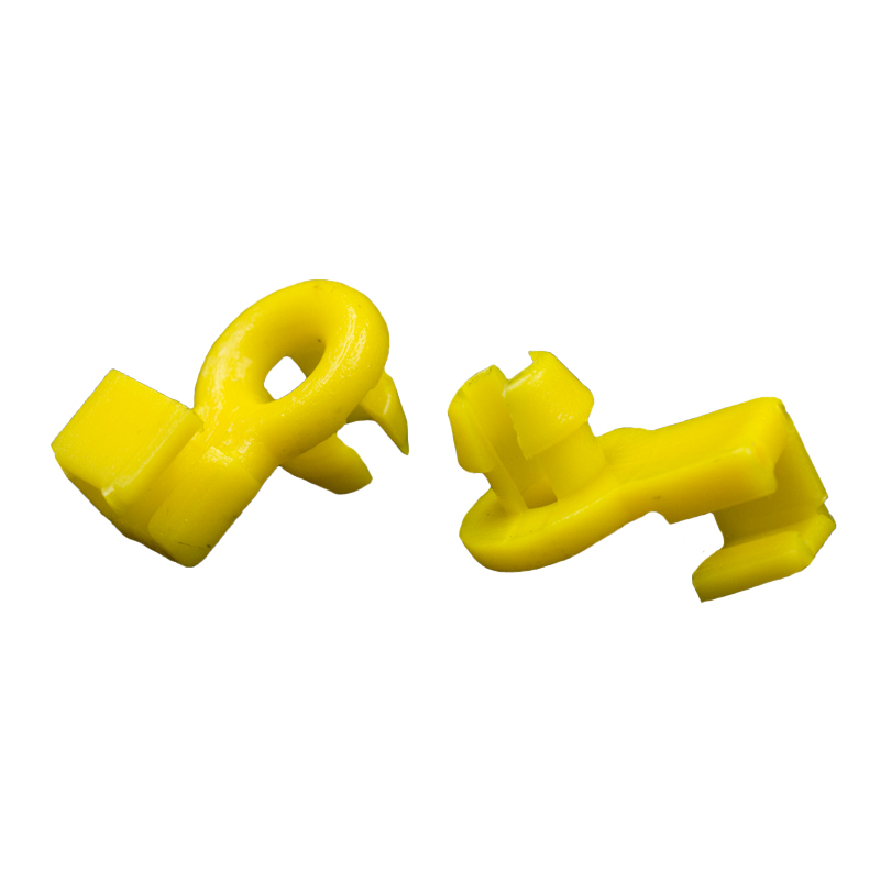 KE LI MI 50 Pieces Lock Buckle For Car Yellow Plastic Auto Door Side Lock Rod Fixed Clips in Auto Fastener Clip from Automobiles Motorcycles