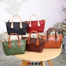 YIFANGZHE Genuine leather womens bag, high quality real leather women bags messenger / corssbody Retro ladies handbags spacious