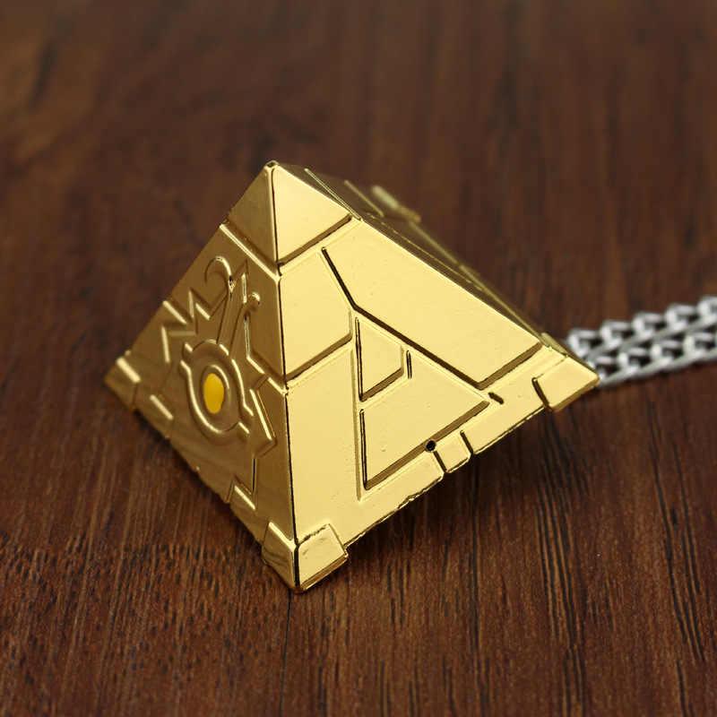 SG серебряное золото Yu Gi Oh ожерелье унисекс Kolye 3D Yugioh головоломка Подвесные Ожерелья для шеи аниме косплей ювелирные изделия