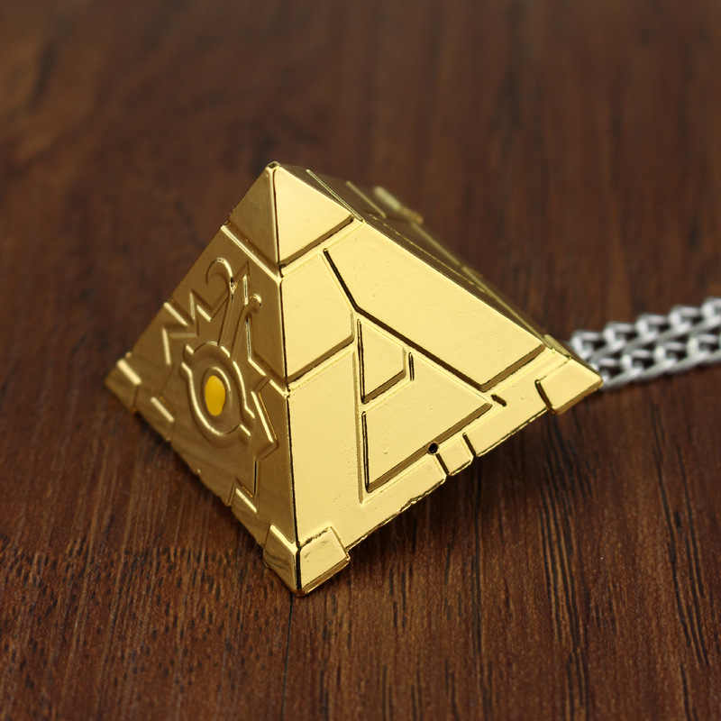 SG argent or Yu Gi Oh hommes femmes collier Kolye 3D Yugioh Puzzle colliers pendentifs Collares Animado Cosplay bijoux