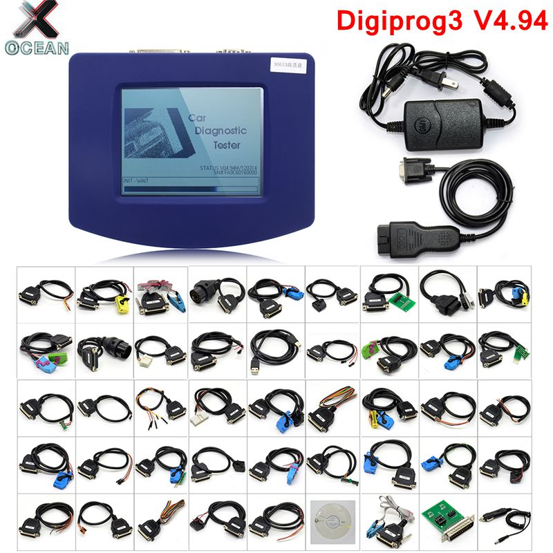 Free Shipping Digiprog 3 V4.94 Full Set Odometer Adjust Programmer 2019 Latest Digiprog III Mileage Correct Tool Digiprog 3