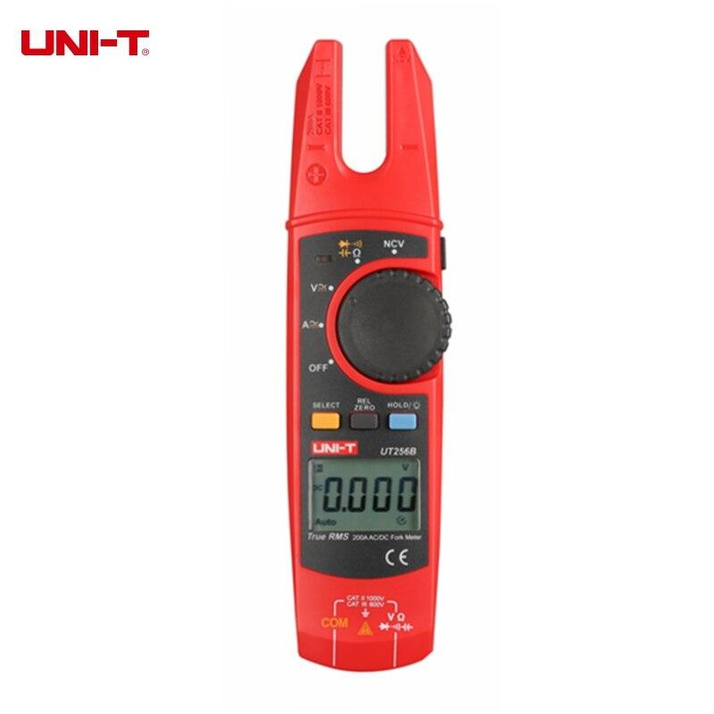 UNI-T UT256B 200A Vrai RMS Fork Mètres Pince Multimètre Numérique Multimètre AC DC Tension Courant Résistance Capacité PCI Testeur