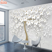 3d настенная бумага фото фрески рулон обои для стен обои для рабочего стола для гостиной стены 3 d картина дерево цветок фон