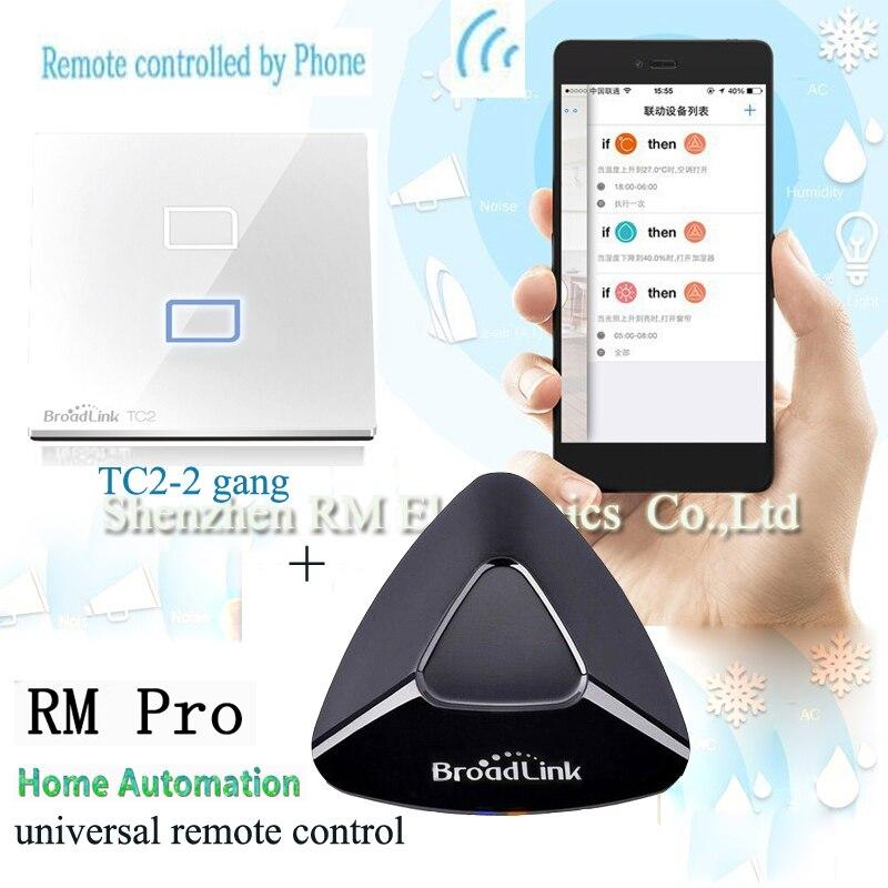 Radiolink Rm Pro Smart Home télécommande intelligente universelle Tc2 2 Gang commutateur de lumière tactile Wifi contrôlé pour Smartphone
