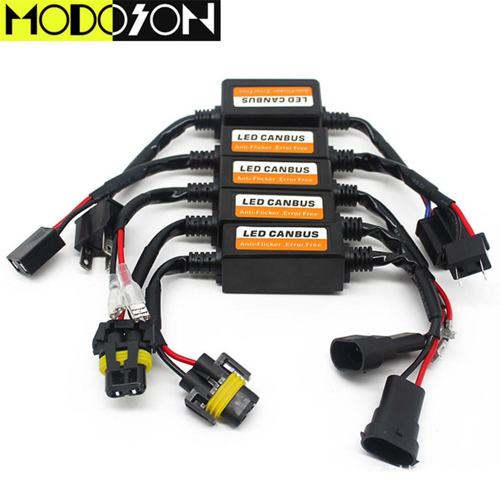MODOSON LED Car Headlight Canbus Wiring Harness Adapter H4 ... on