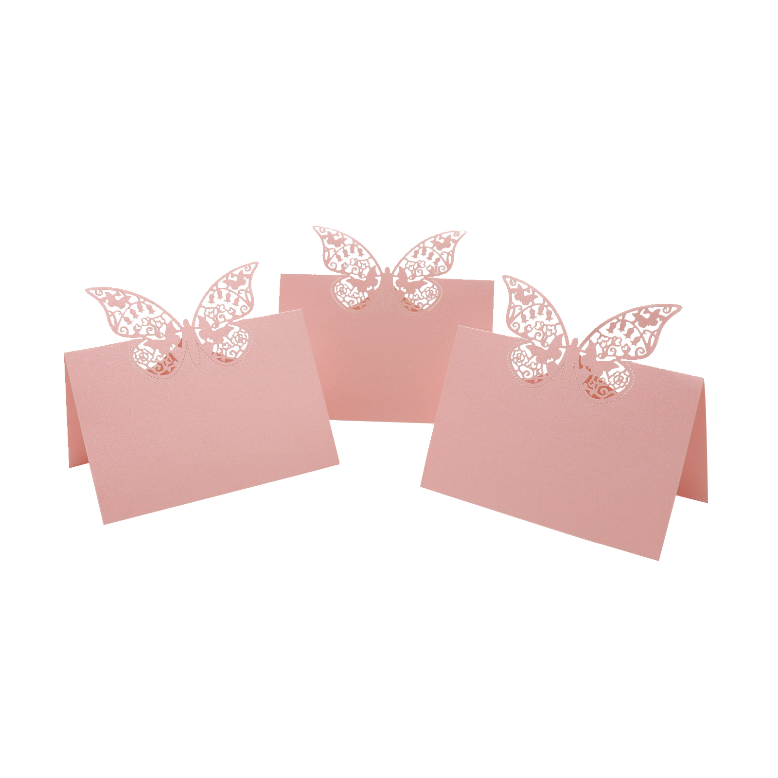 10pcs Wedding Table Card Banquet Name Place Cards Restaurant Table Number Cards Butterfly Shape Invitation Cards Wholesale