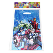 10pc Plastic Avengers Theme Birthday Party Supplies Child Kids Decoration Return Gift Loot Bag Candy Box