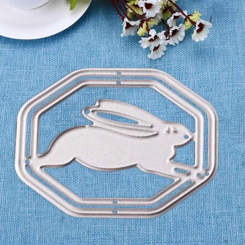 1Pcs Lente Pasen Konijn Bunny Scrapbooking Papier Craft Card Album Mes Punch Stencils