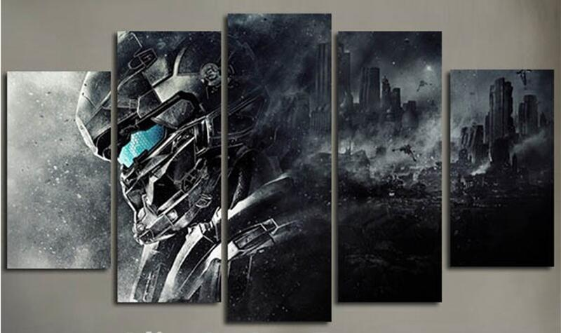 5Piece Home Decoration Wall Art Canvas Prints Halo 5 Guardians Video ...