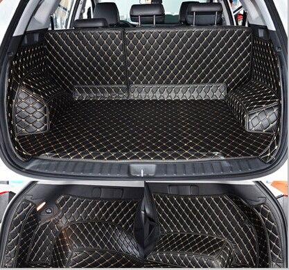 Esteras de alta calidad Juego completo de tapetes para el maletero del coche para Hyundai Tucson 2019 alfombras impermeables de la alfombra del forro de la carga para Tucson 2018-2015