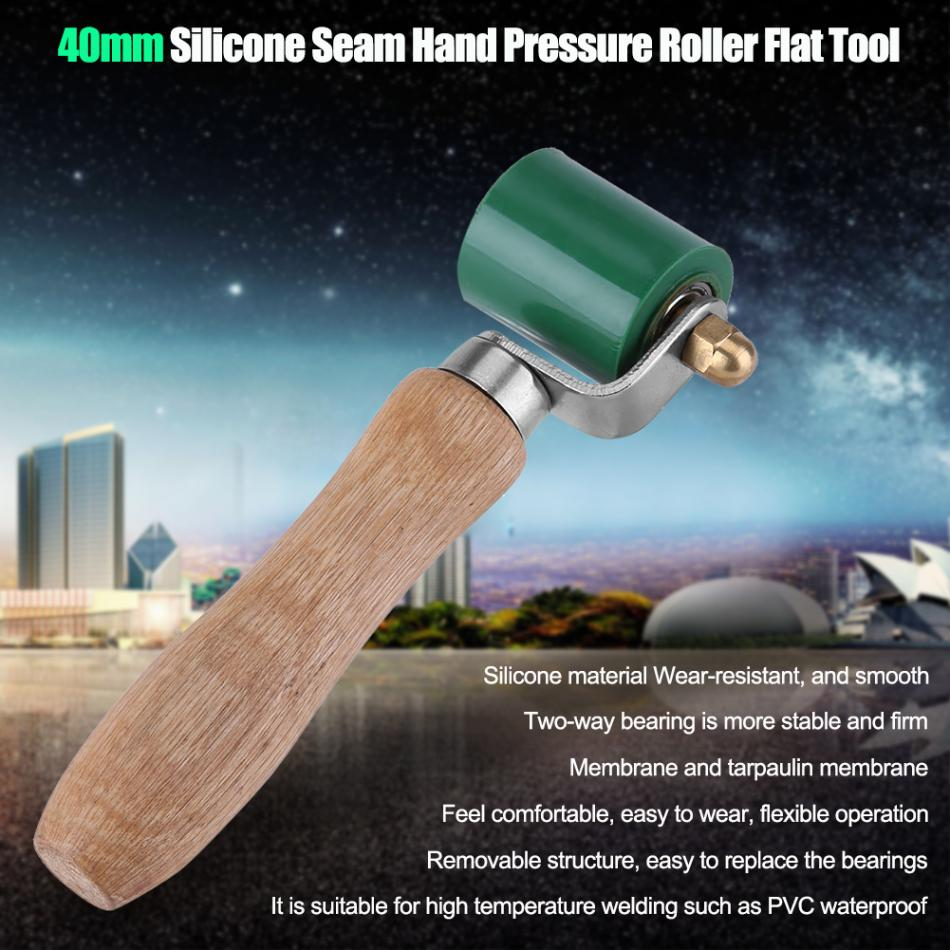 Red Phoetya ChenTingTing0715 40mm High Heat Silicone Roller Resistant Seam Hand Pressure Roller for Roofing Hot Air Heating PVC Welding Installation Flat Tool