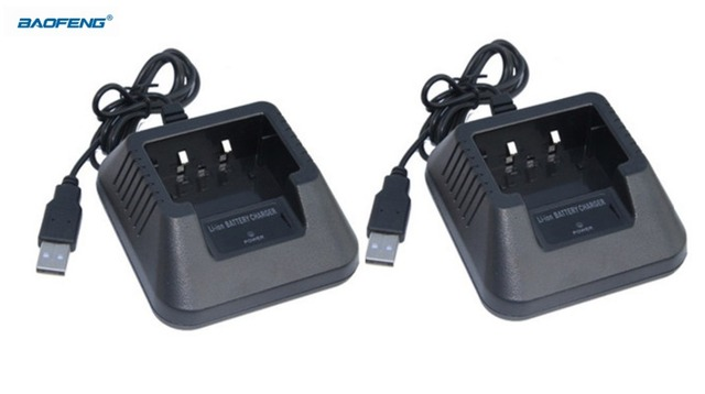 2pcs Baofeng UV-5R USB Desktop Battery Charger For Uv-5RA 5RE Parts Tabletop Li-Ion Charger Baofeng Walkie Talkie Accessories