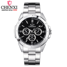 CHENXI Top Brand Men Luxury Quartz Watch Men's Business Clock WristWatches Man All Steel Watches Male Gift Watches 019A