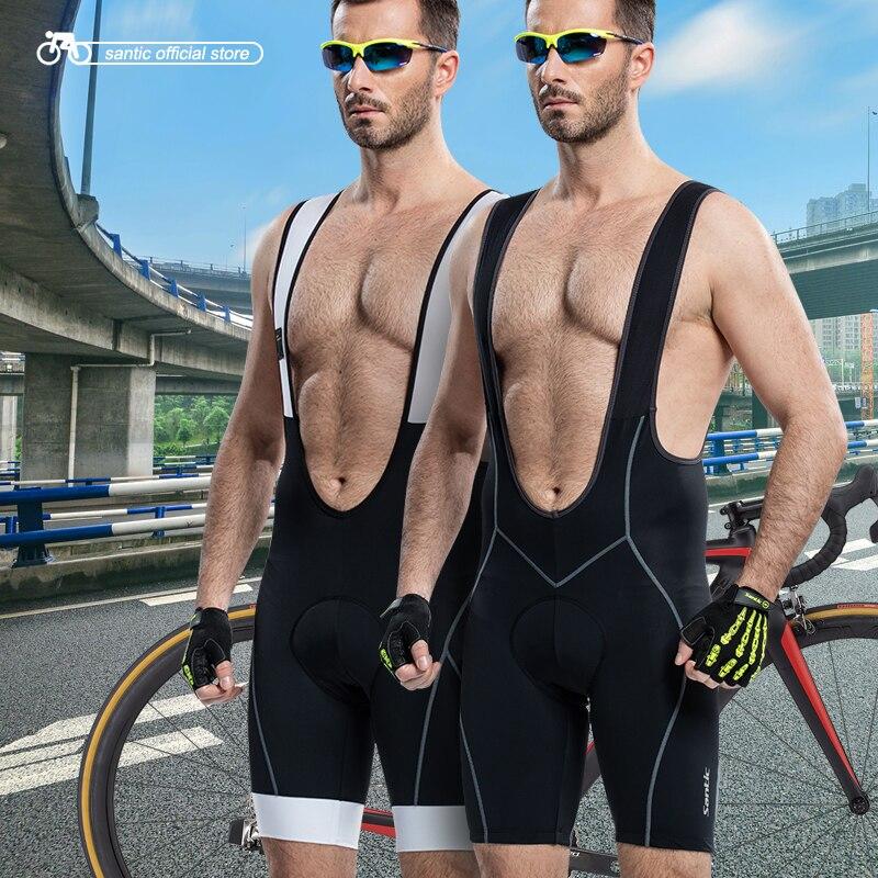 Prix pour Santic Hommes Rembourré Vélo Bib Shorts 4D Vélo Jersey Cuissard Vélo Vélo Cuissard Vélo C05031/5014