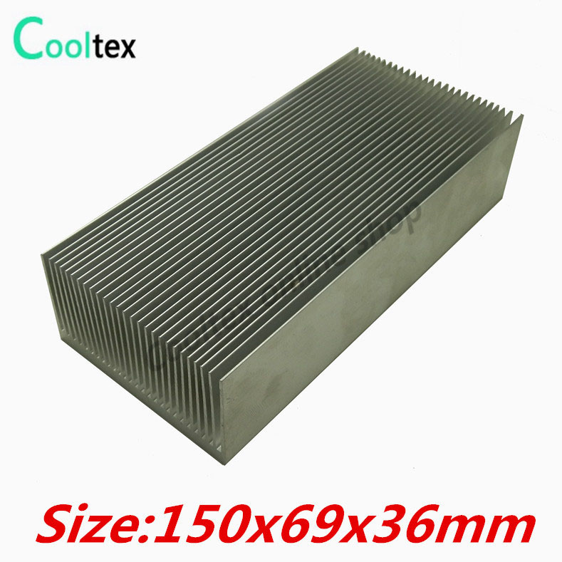 150x69x36mm Aluminum HeatSink heat sink radiator for Electronic Power Amplifier Chip VGA RAM LED  Cooler cooling 10pcs lot ultra small gvoove pure copper pure for ram memory ic chip heat sink 7 7 4mm electronic radiator 3m468mp thermal