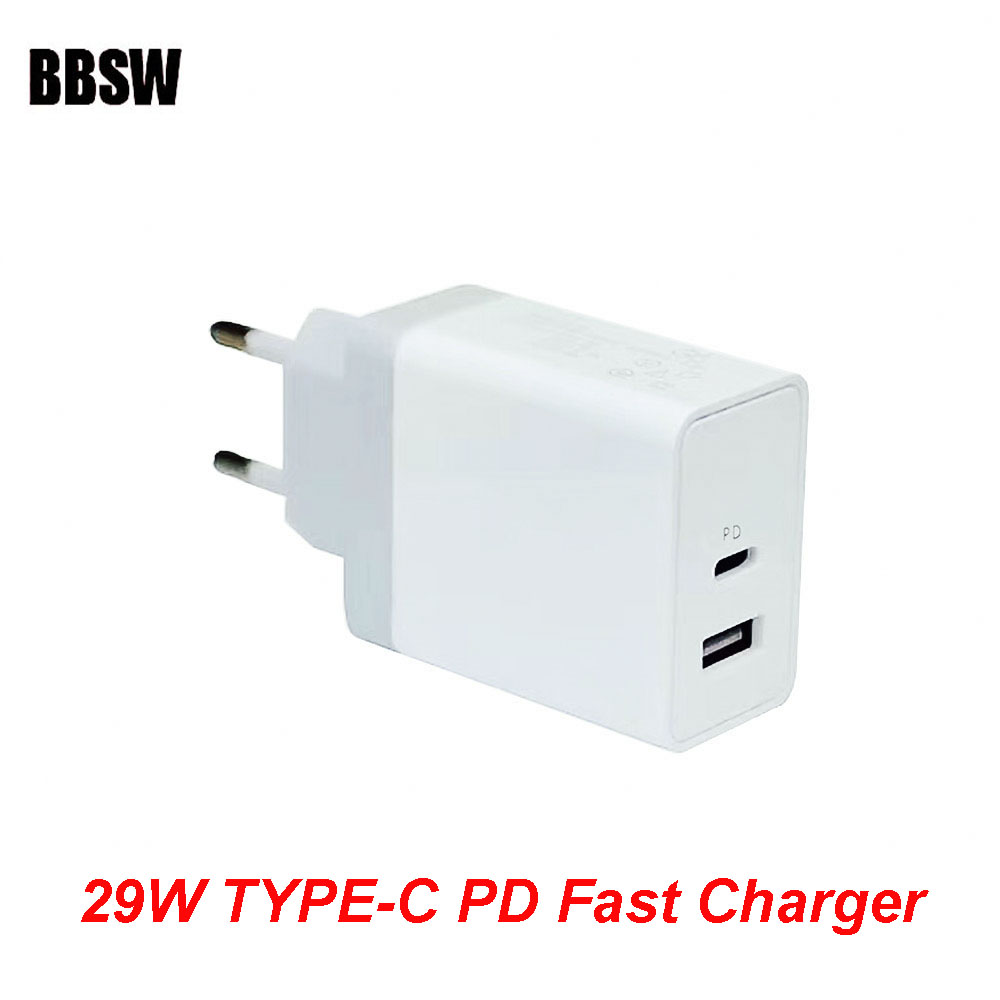 BBSW 29W USB Type-C PD Fast Wall Charger Power Adapter with Power Delivery For iPhone X 8 Plus Macbook Pro Yota USB-C PD Charger