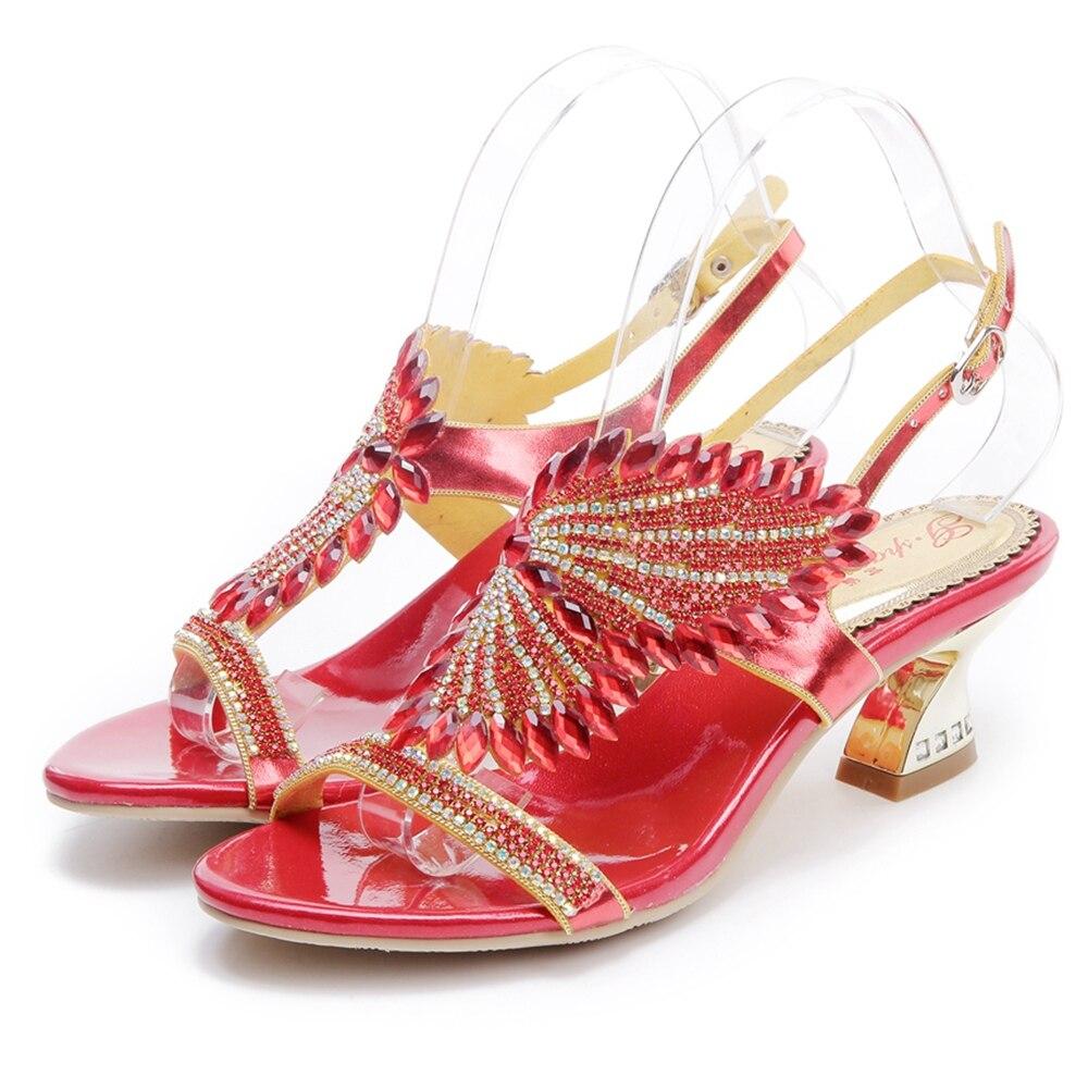 red Black Schöne Mode Shop Verkauf purple golden Heels Mujer Hohe Frauen Qualität 5523 Frau Zapatos Schuhe Kleid Heels 2019 Thick Sandalen Neue Heißer Heels Heels gIqndxawz