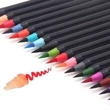 Купить онлайн Chenyu 20 видов цветов Кисточки маркер мягкий тонкий кончик акварель премии картина эффект Best для окраски Книги манга комиксов каллиграфия