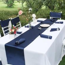 OurWarm атласный элегантный блесток настольная дорожка темно-синий современная домашняя Скатерть Обложка отель банкет ужин Свадебные украшения