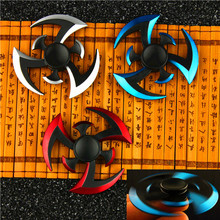 New Stainless Steel Fidget Spinner Naruto Finger Tri Spinner Darts Metal Hand Spinner Model EDC Stuffer for Kid/Adult Toys 2017 new tri spinner fidget toys edc hand spinner metal fidget spinner for adhd adults children relax time long funny toys