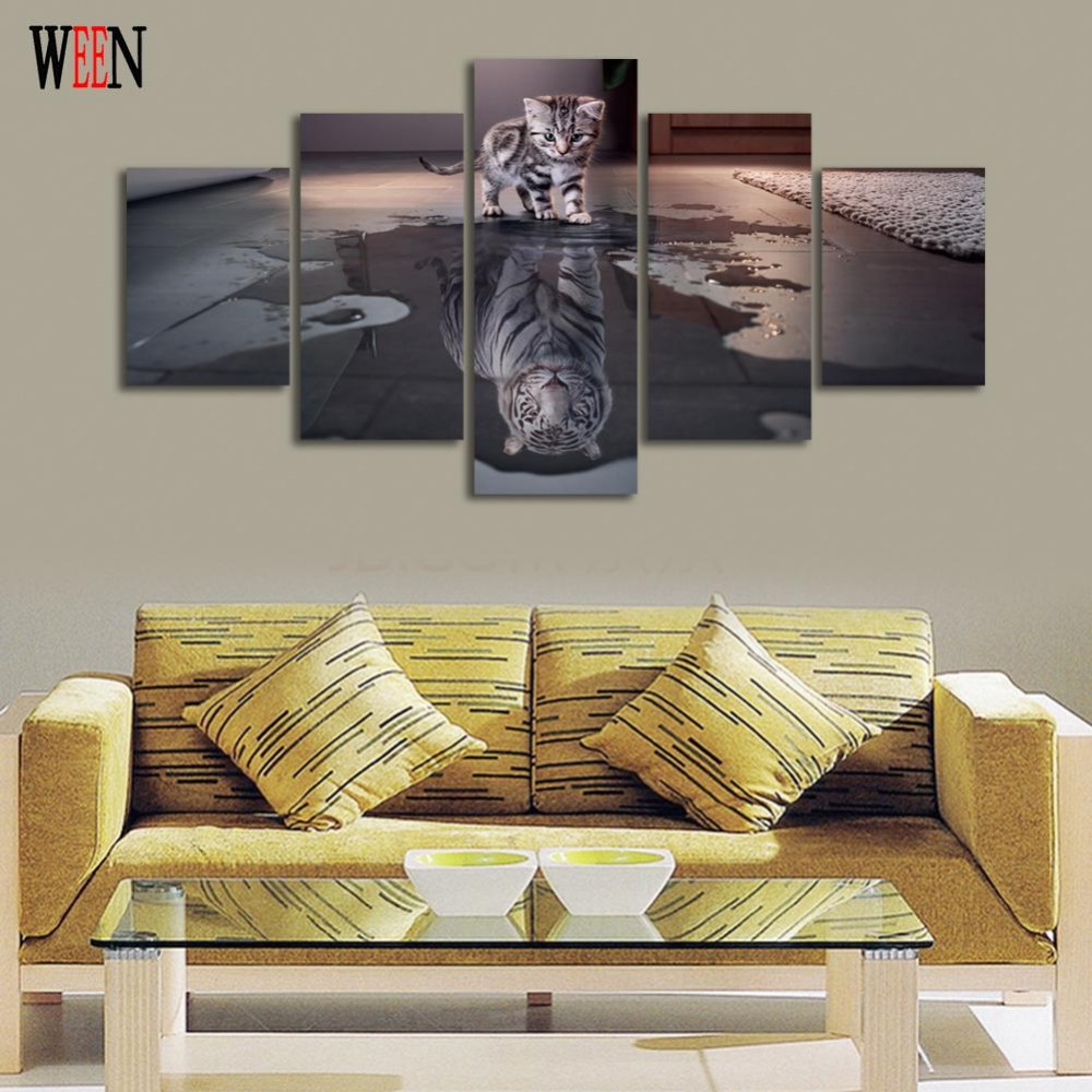 Online buy wholesale cat canvas art from china cat canvas for Buy modern art prints