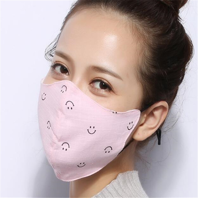 10pcs/Bags Dust Mask New Men And Women Mask Mond Doek Three-dimensional Cotton Riding Windproof Warm Pink Mask Topeng Mulut
