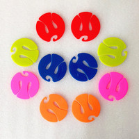 2500 Pcs/Set Mixed Color Sock Clip Circle Shape Colorful Sock Holder Sock Sorters Locks Clips