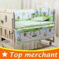 5 PCS conjunto de cama miúdos cama set meninas meninos do bebê recém-nascido de algodão cortina berço bumper berço set bebê bumper cama 100x58 cm CP01