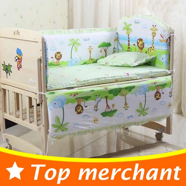 5 UNIDS bebé recién nacido sistema del lecho del lecho de los cabritos muchachos de las muchachas del algodón cortina de parachoques parachoques cuna juego de cama de bebé cuna 100x58 cm CP01