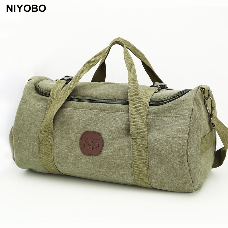 Large Capacity Men Travel Bags Vintage Canvas Women Weekend Traveling Duffle Tote Crossbody Bags Casual Male Trip Shoulder Bags