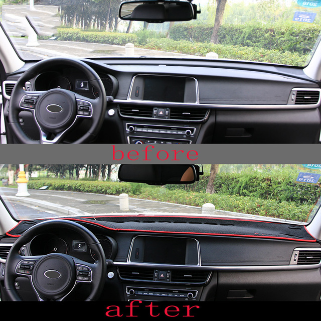 Automotive Interior Trim For Kia Optima K5 Car Dashboard Pad Cover Avoid Light Instrument Platform