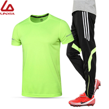 купить 2019 Sports Running Suit for Men Quick Dry 2 piece Sportswear Basketball Soccer Training Gym Fitness Clothing Sets Jogging Suit онлайн