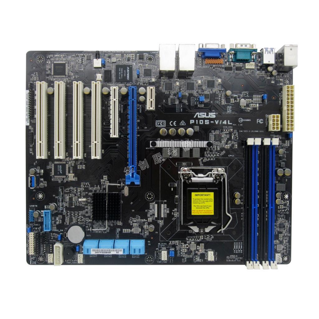 Asus P10S-V/4L server motherboard C236 chip 8 SATA3.0 four Gigabit Ethernet