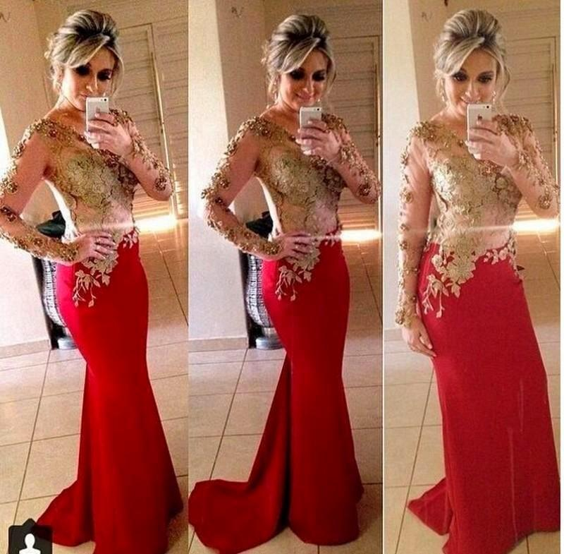 Online Get Cheap Red and Gold Prom Dresses 2015 -Aliexpress.com ...