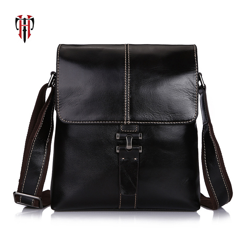 TIANHOO messenger bag flap oil- wax cow leather man shoulder simple fashion casual crossbody bags for men shopping bags все цены