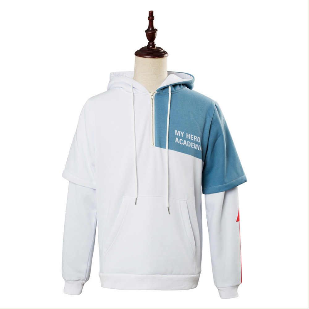My Hero Academia Shoto Todoroki Hoodie Sweatshirt Cosplay Jacket Pullover Coat