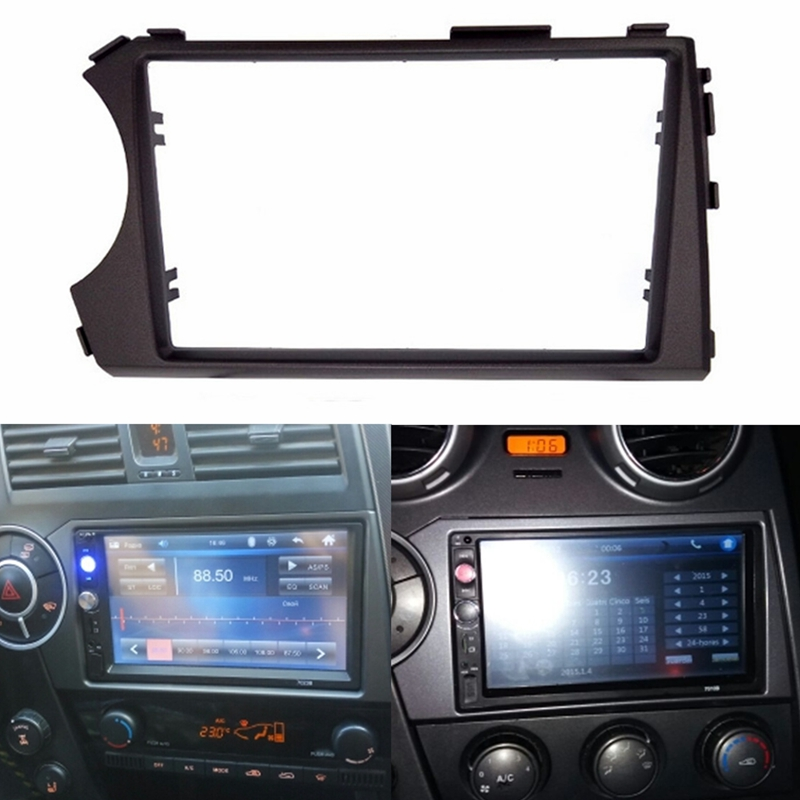 2DIN Radio Fascia for SSANG YONG Actyon LHD (Left Hand Drive) Facia Dash CD Trim Installation mount Kit facia frame panel-in Fascias from Automobiles & Motorcycles