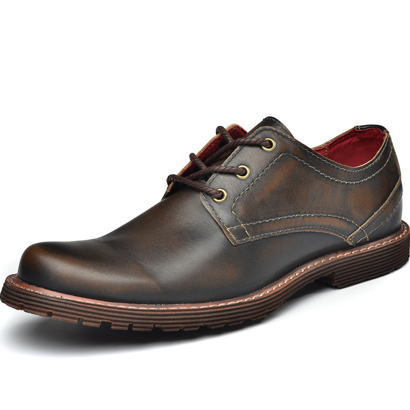 Formal Hombres Gris Zapatos Brown gray Marrón Los La Calidad Vestir Genuino De Alta Cuero Dark Vendimia Wq4YgW