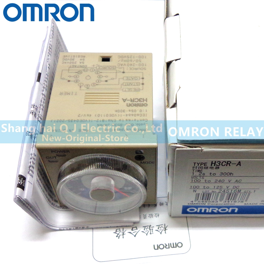 OMRON TIME RELAY H3CR A 100 240VAC 100 125VDC 1 2S 300H Brand new and original